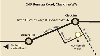 Avonbrook Wines Map